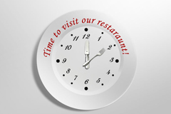餐盘时钟PSD素材