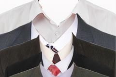 衬衫与西装寸照PSD素材