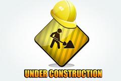 施工带安全帽(网站建设中)图标PSD素材