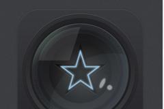 星星镜头图标PSD素材