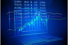 股票走势背景矢量素材