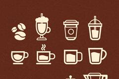 精致咖啡图标设计矢量素材