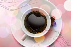 光晕咖啡设计矢量素材