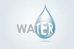 创意水滴背景矢量素材