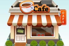 精美咖啡店设计矢量素材