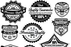 简洁促销标签徽章矢量素材