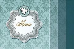 优雅菜单封面设计矢量素材