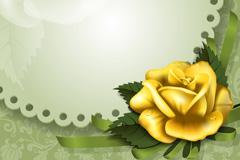 金色玫瑰装饰边框矢量素材