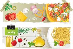 精美食物横幅矢量素材