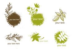 清新植物图标矢量素材