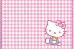 可爱凯蒂猫背景矢量素材