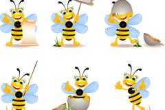 卡通调皮蜜蜂矢量素材