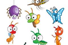 可爱卡通昆虫矢量素材