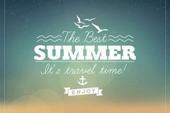 夏日海滩海报矢量素材