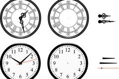 手绘时钟表盘矢量素材