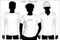 简洁感T恤设计矢量素材