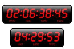精致数字时钟设计矢量素材
