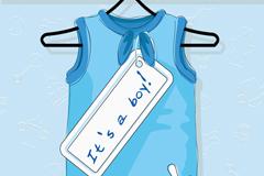 卡通男童服装矢量素材