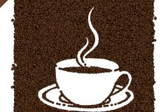 时尚咖啡豆咖啡海报矢量素材