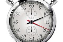 精致计时器矢量素材