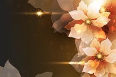 幻彩花卉设计矢量素材