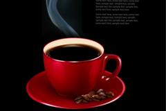 精美热咖啡背景矢量素材