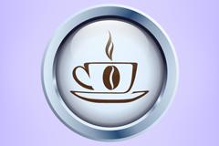 精致咖啡杯矢量素材