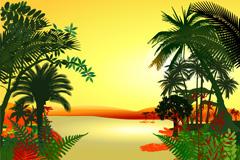 热带丛林矢量素材