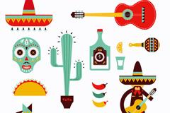 卡通墨西哥图标矢量素材