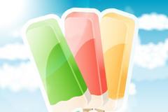 夏日美味冰棒矢量素材