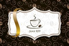 创意咖啡背景矢量素材