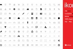 150个网页图标PSD素材