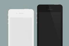 扁平化iphone4和5PSD素材