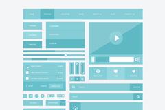 扁平化UI界面PSD素材