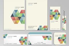 彩色拼接装饰卡片矢量素材