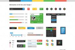 google风格界面PSD素材