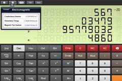 ipad计算器界面PSD素材
