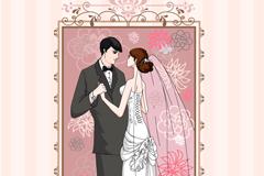 精美婚礼邀请卡矢量素材