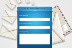 邮件发送界面PSD素材