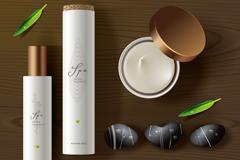 天然化妆品SPA用品矢量素材