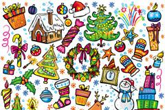 卡通圣诞节装饰矢量素材