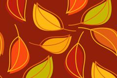 创意树叶背景矢量素材