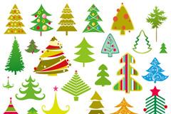 32种卡通圣诞树矢量素材