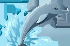 卡通海豚矢量素材