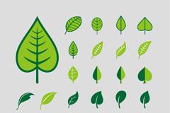 清新彩绘树叶矢量素材