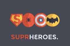 超级英雄图标PSD素材
