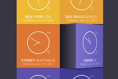 个性化时间app应用界面PSD素材