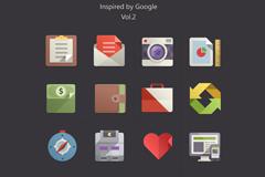 谷歌风格扁平化图标PSD素材