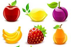 晶莹质感水果矢量素材