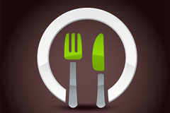 简洁西餐菜单矢量素材